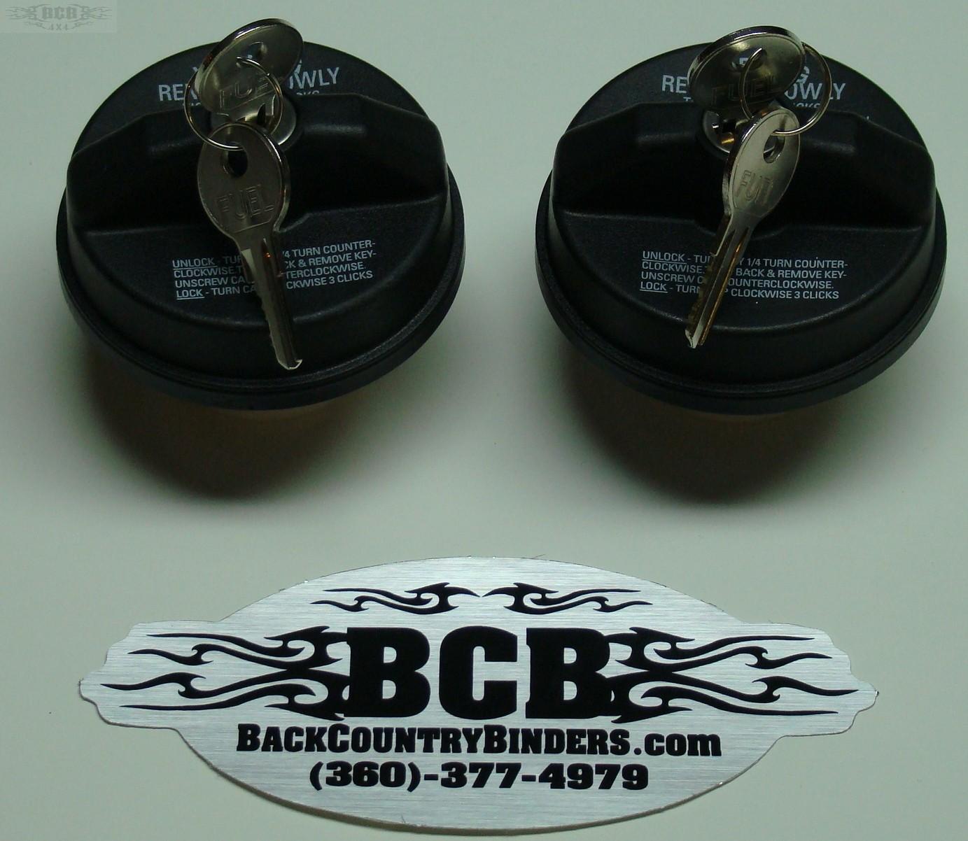 BCB NO LEAK GAS FILL  LOCKING CAP (pair keyed alike)